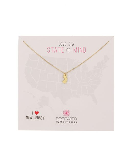 Dogeared - Metallic State Of Mind New Jersey Pendant Necklace - Lyst