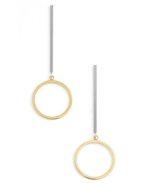 Argento Vivo   Metallic Drop Earrings   Lyst