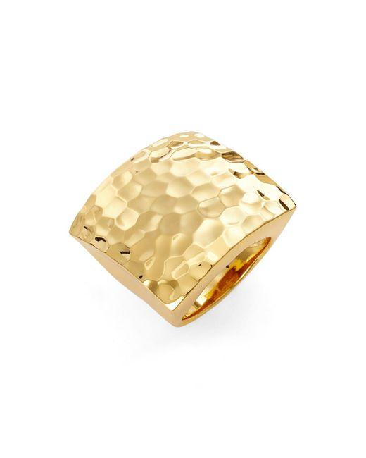 Argento Vivo | Metallic Block Ring - Size 8 | Lyst