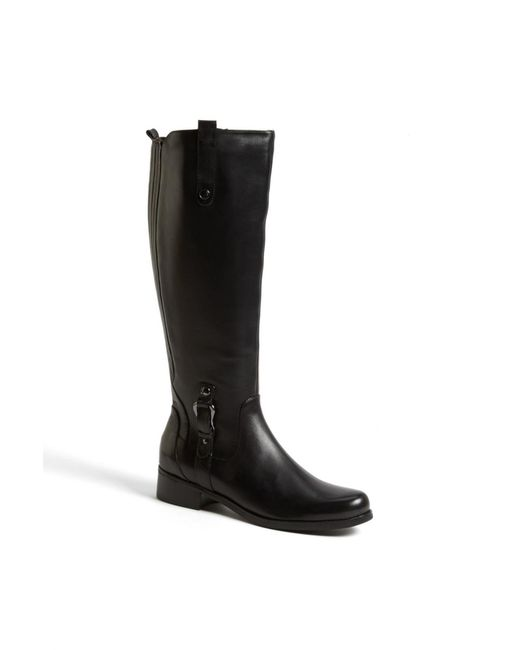 Blondo | Black 'venise' Waterproof Leather Riding Boot | Lyst