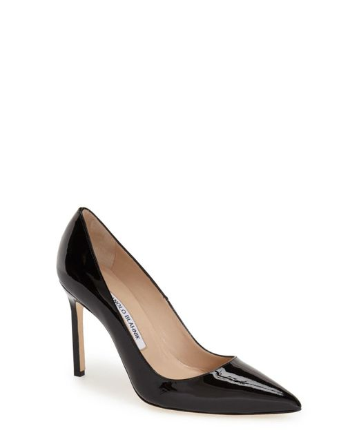 Manolo Blahnik | Black 'bb' Pointy Toe Pump | Lyst