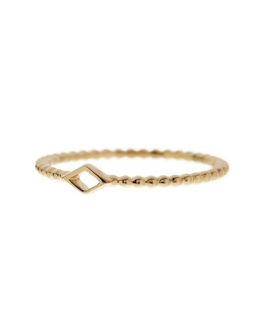 Bony Levy   Metallic 14k Yellow Gold Diamond-shape Beaded Ring   Lyst
