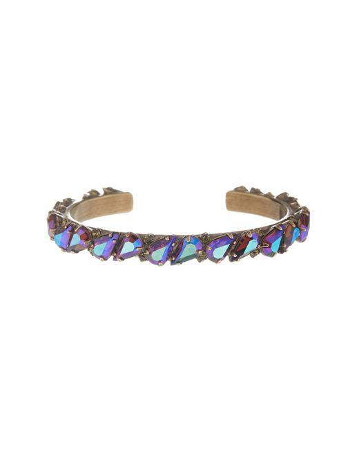 Sorrelli | Metallic Repeating Teardrop Swarovski Crystal Accented Cuff Bracelet | Lyst
