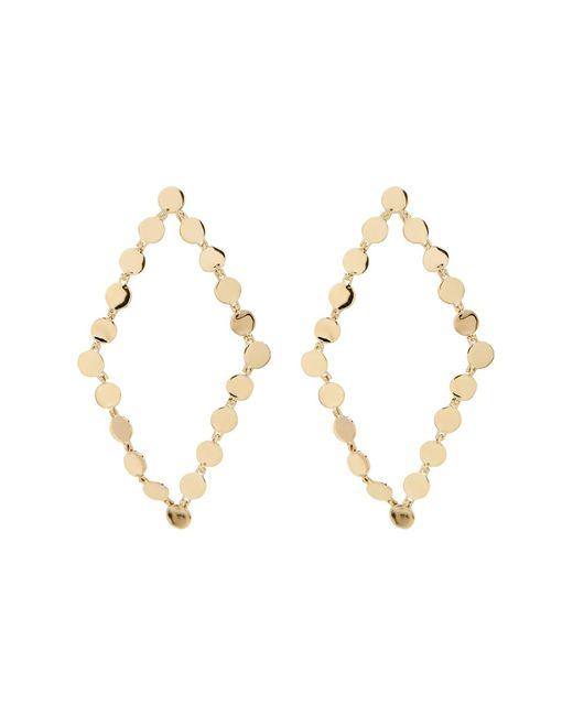Bony Levy   Metallic 14k Yellow Gold Beaded Open Diamond-shape Drop Earrings   Lyst