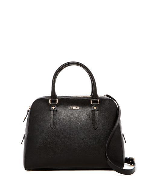 Furla | Black Elena Medium Saffiano Leather Satchel | Lyst