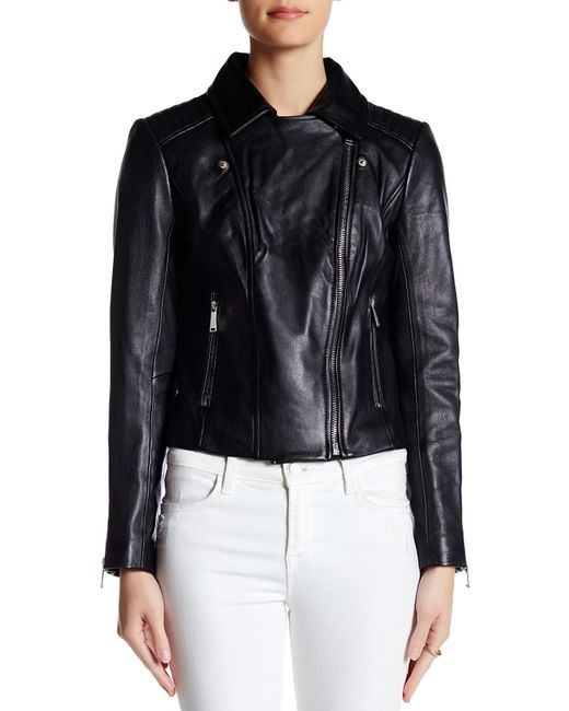 Bcbgeneration Classic Leather Moto Jacket In Black Lyst
