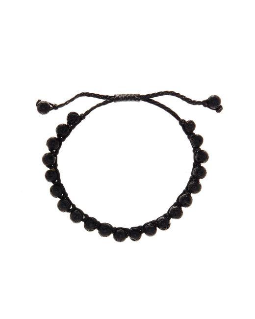 Link Up | Black Lava Rock Beaded Cord Bracelet | Lyst