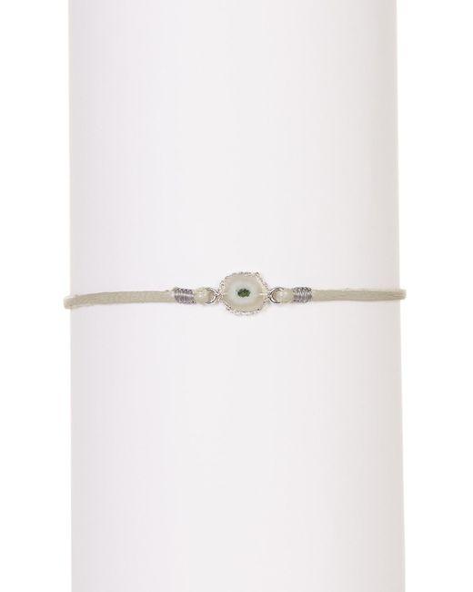 Chan Luu   Metallic Freeform Stone Cord Slider Bracelet   Lyst