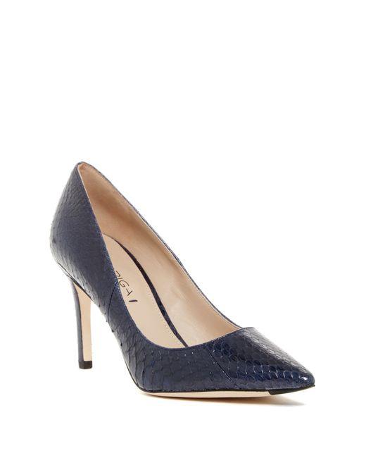 Via Spiga | Blue Carola Pointed Toe Leather Heels | Lyst
