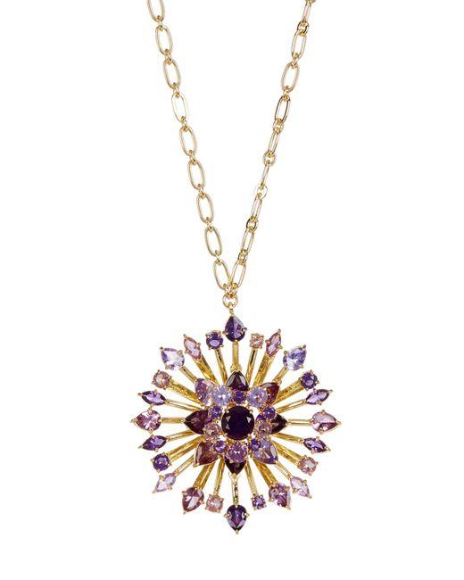 Carolee | Metallic Large Embellished Flower Pendant Long Necklace | Lyst