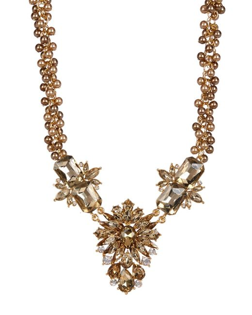 Carolee | Multicolor Big Floral Stone Frontal Beaded Necklace | Lyst