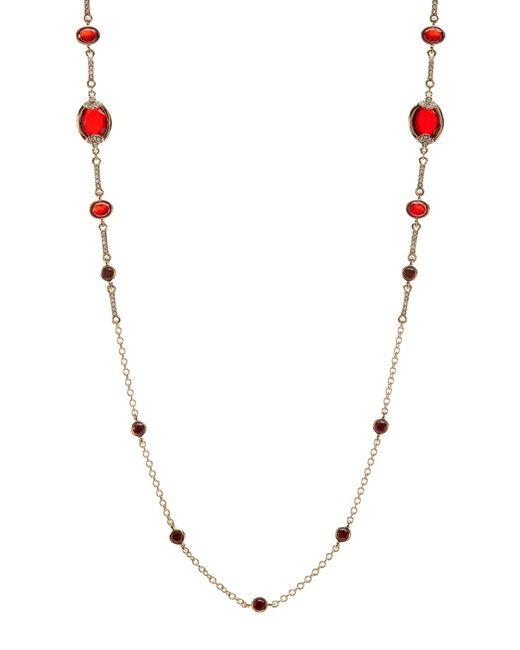 Carolee | Metallic Illusion Long Station Necklace | Lyst