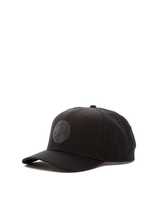 Converse | Black Ripstop Snapback Cap for Men | Lyst