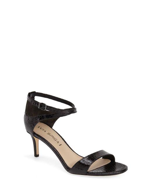 Via Spiga | Black 'leesa' Sandal (women) | Lyst