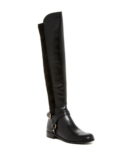 Franco Sarto | Black Mast Leather Over-The-Knee Boots | Lyst