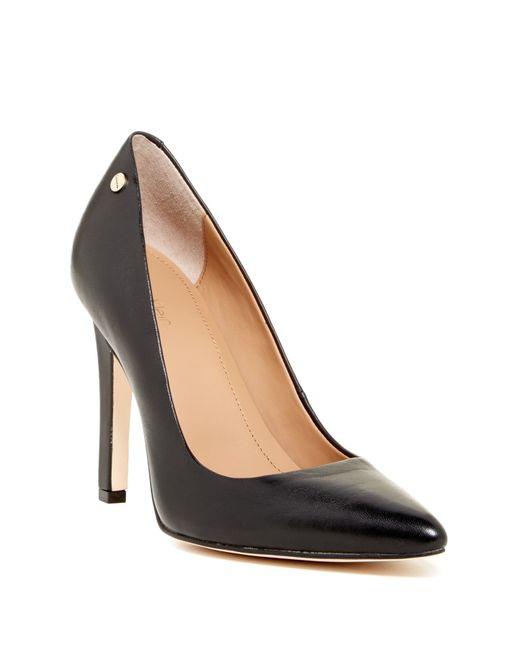 Calvin Klein | Black Brady Leather Pointed Toe Pump - Wide Width Available | Lyst