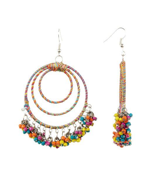 Cara | Metallic Wrapped & Beaded Multi Hoop Earrings | Lyst