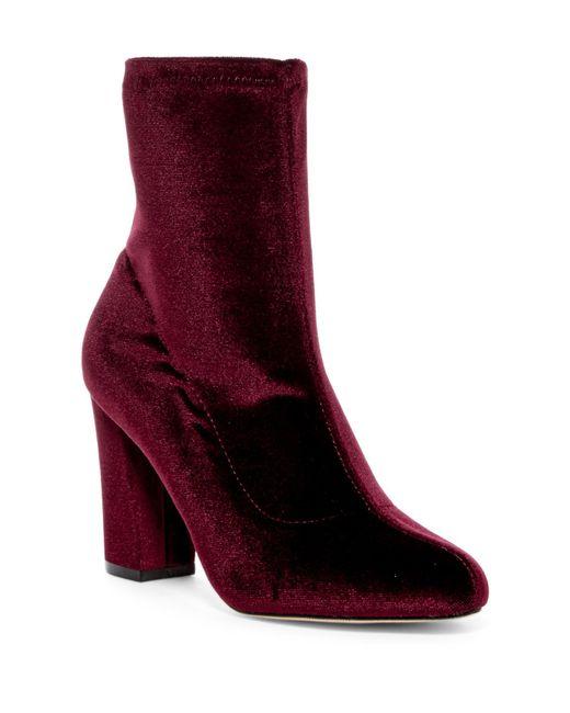 Madden Girl | Red Fantaysa Velvet Boot | Lyst