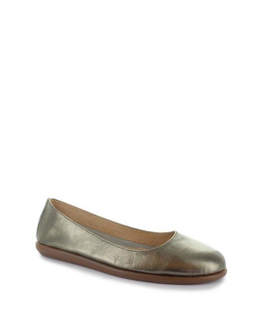 Joan Vass | Patricia Metallic Flat | Lyst