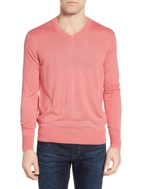 Jeremy Argyle Nyc   Pink V-neck Sweater for Men   Lyst