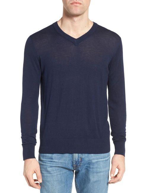 Jeremy Argyle Nyc   Blue V-neck Sweater for Men   Lyst