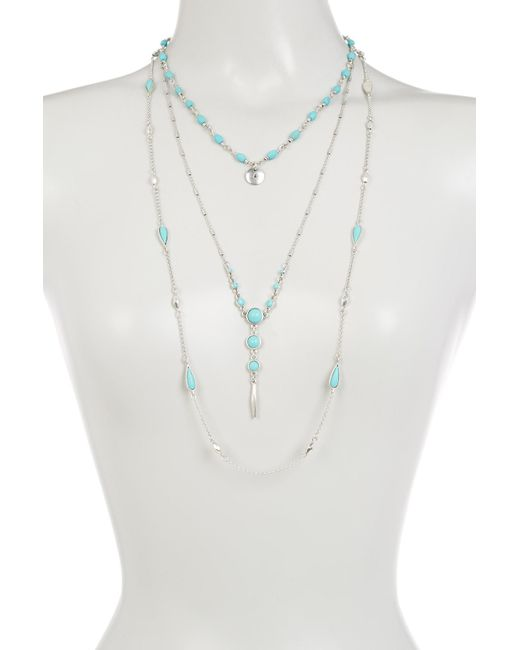 Lucky Brand | Metallic Lucky Layers Necklace | Lyst
