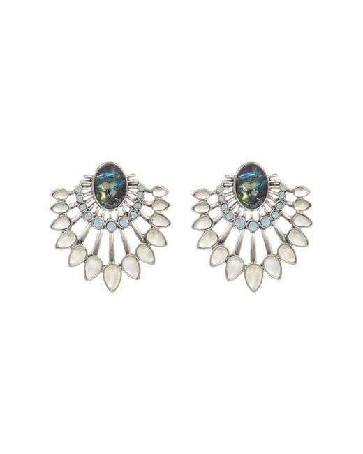 Lucky Brand | Multicolor Abalone Fan Earrings | Lyst