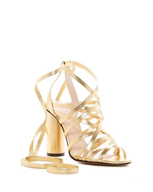 Jill Stuart   Metallic Michelle Ankle Wrap Sandal   Lyst