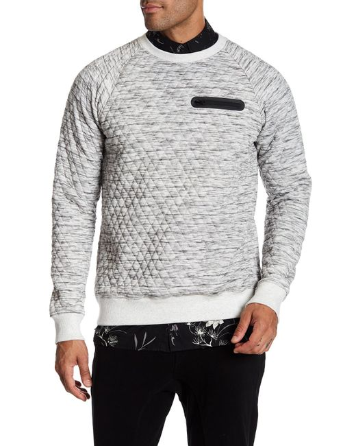 Sovereign Code | Gray Mcmurray Quilted Sweatshirt for Men | Lyst
