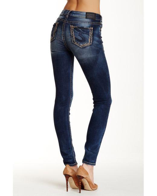 Silver Jeans Co Suki Mid Rise Super Skinny Jean 31
