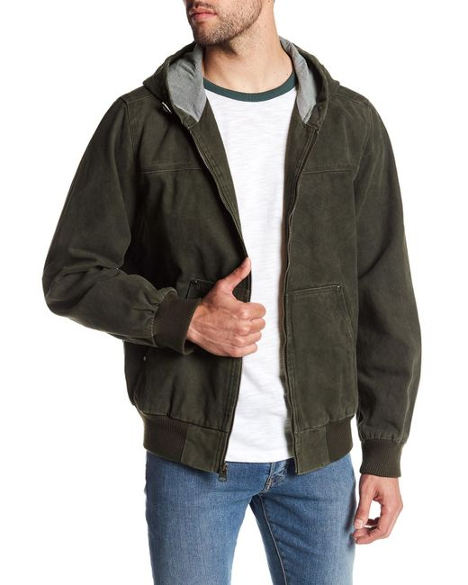 Levi's | Green Hooded Canvas Jacket for Men | Lyst