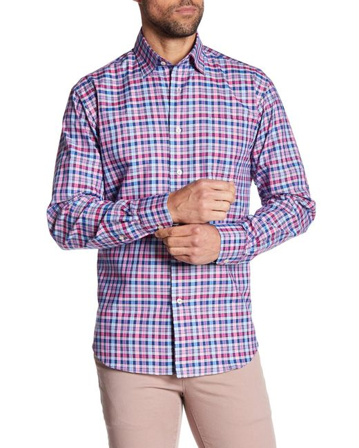 Robert Talbott | Blue 'crespi' Tailored Fit Check Sport Shirt for Men | Lyst