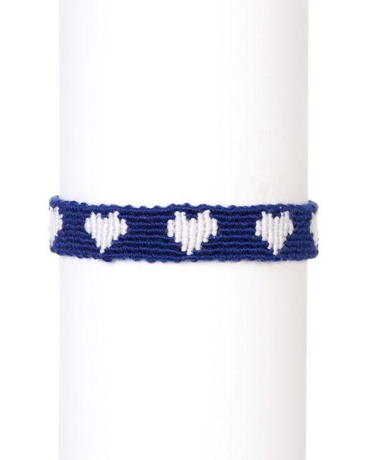 Marc Jacobs | Blue Heart Macrame Bracelet | Lyst