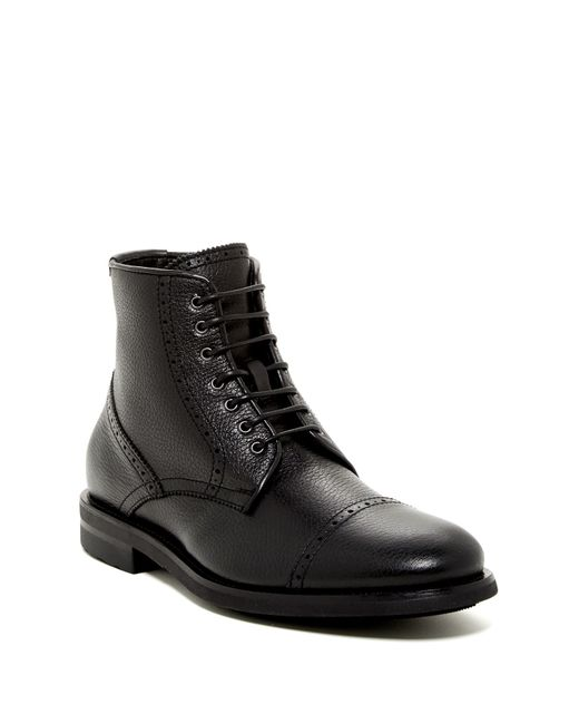 Aquatalia | Black Carter Cap Toe Boot - Weatherproof for Men | Lyst