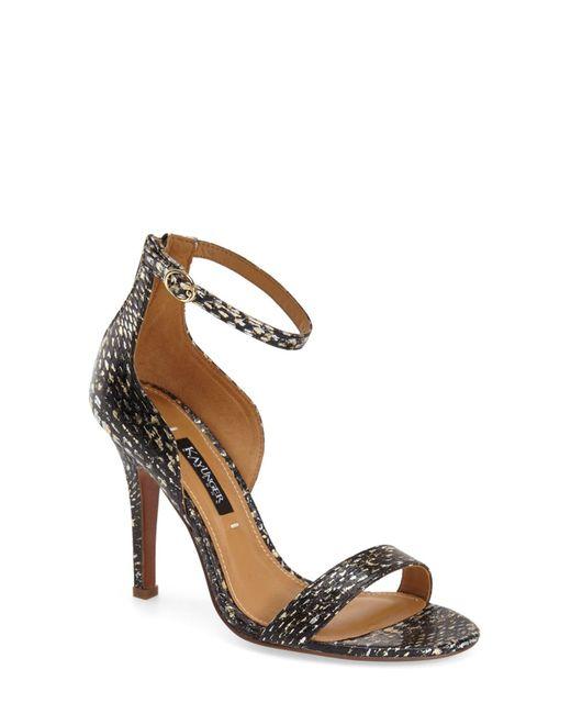 Kay Unger | Black 'mandie' Ankle Strap Sandal (women) | Lyst