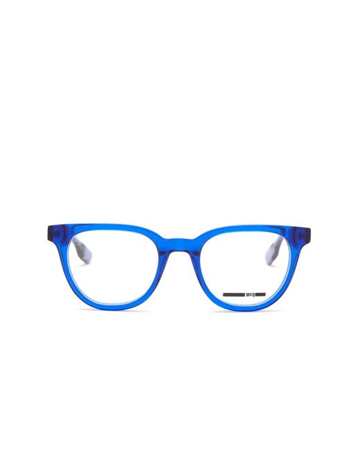 Ladies Blue Frame Glasses : Mcq Womens Optical Frame Glasses in Blue Lyst