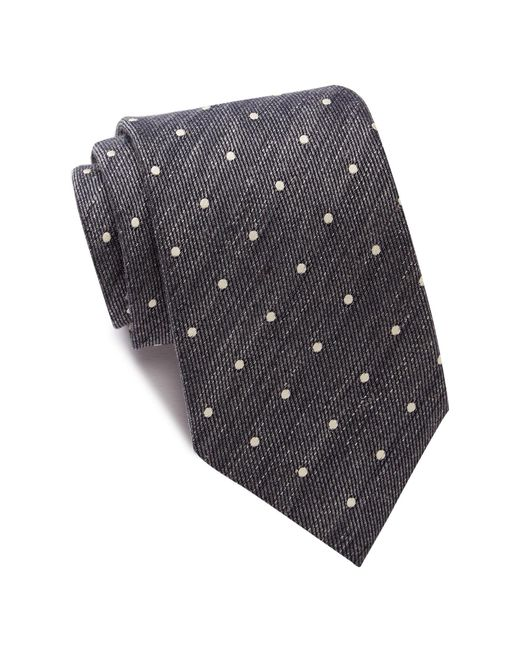 John Varvatos | Gray Polka Dot Wide Tie for Men | Lyst