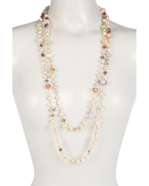 Carolee | Metallic Mix Beaded Rope Necklace | Lyst