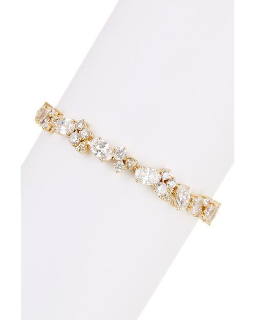 Nadri | Metallic Cz Cluster Bracelet | Lyst