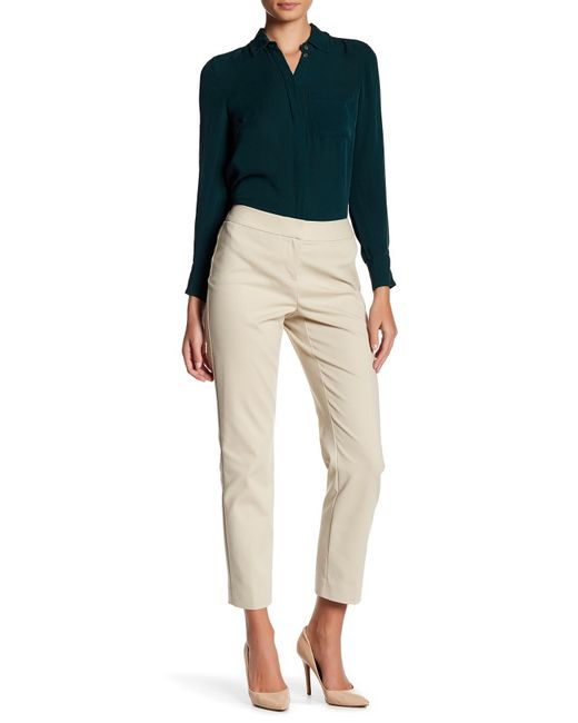 Nordstrom Collection | Natural 'veloria' Slim Ankle Pants | Lyst