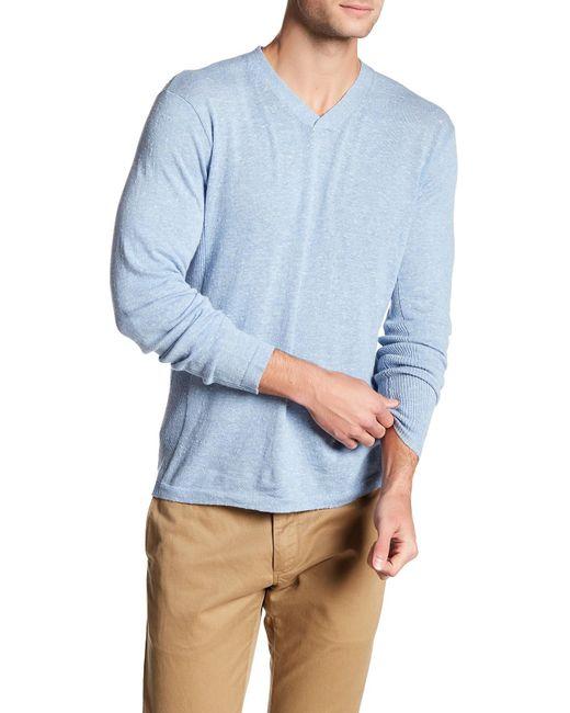 Autumn Cashmere | Blue Ribbed V-neck Sweater for Men | Lyst