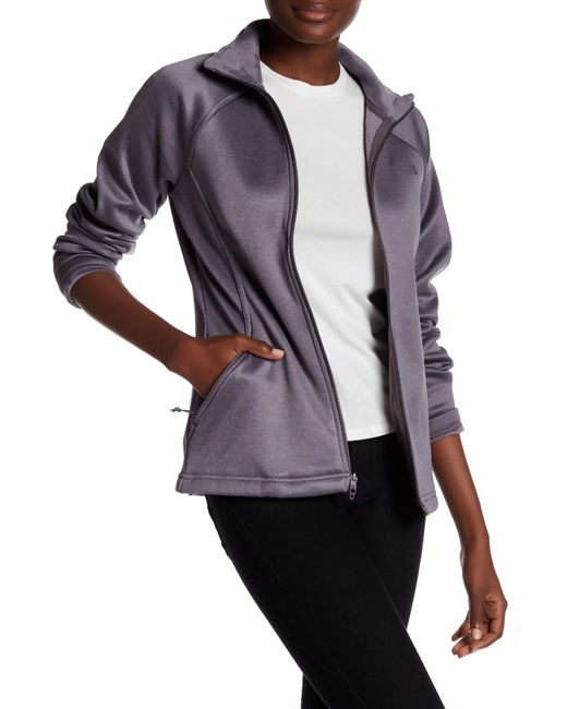The North Face | Gray Rabbit Grey Agave Zip Jacket | Lyst