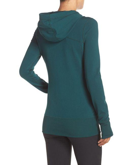 Zella Hannah Hooded Jacket In Green Lyst