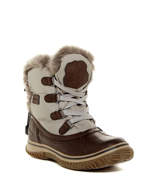 Pajar | Brown Ice Pick Waterproof Faux Fur Lined Boot | Lyst