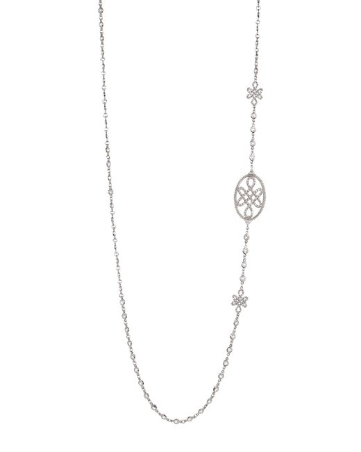 Freida Rothman   Multicolor Long Love Knot Station Necklace   Lyst