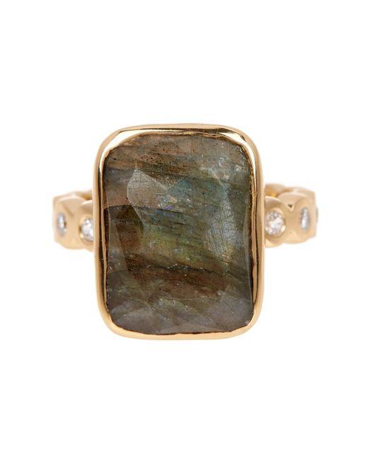Melinda Maria | Metallic Mia Labradorite & White Cz Ring - Size 7 | Lyst