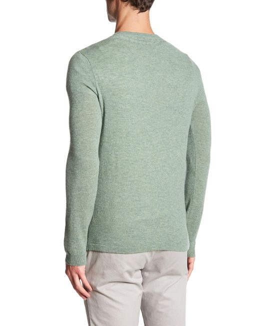Autumn cashmere Cable Knit Cashmere Sweater in Green for ...