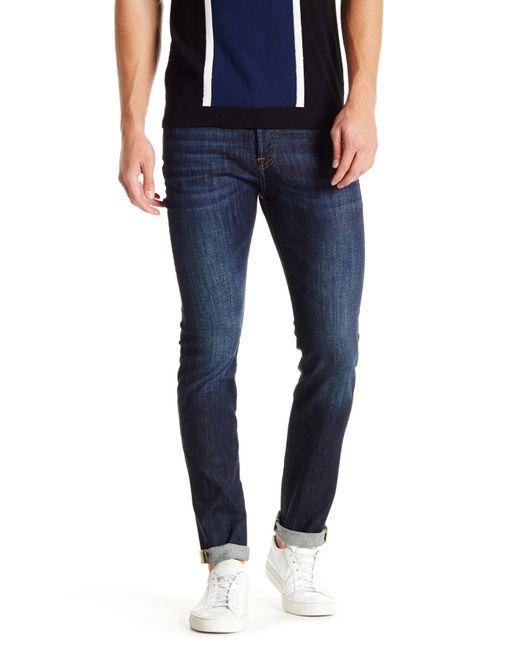 7 For All Mankind | Blue Rhigby Slim Straight Leg Jean for Men | Lyst