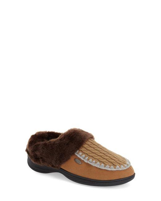 Acorn   Brown Acadia Scuff Faux-Fur Slippers   Lyst