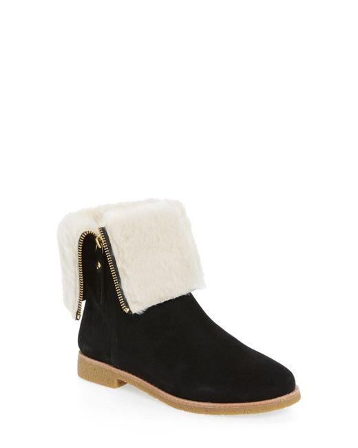 Kate Spade   Black Faux Fur Lined Baja Boot   Lyst